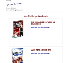 Shawna Kaminski's CFL: Ab Challenge Workouts Download Page
